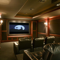 Traditional Home Theater by Thomas Buckborough & Associates