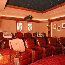 Traditional Home Theater by TAB ASSOCIATES INC