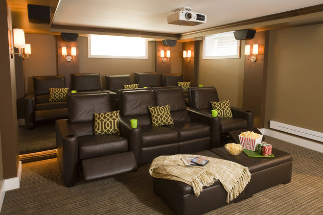 Traditional Home Theater by Shane D. Inman