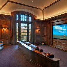 Traditional Home Theater by Jan Gleysteen Architects, Inc