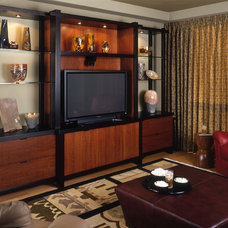 Contemporary Home Theater by James Patrick Walters