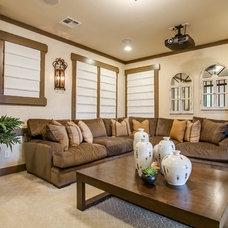 Traditional Home Theater by JE Design Group, Inc