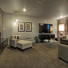 Modern Home Theater by Linfield Design Associates