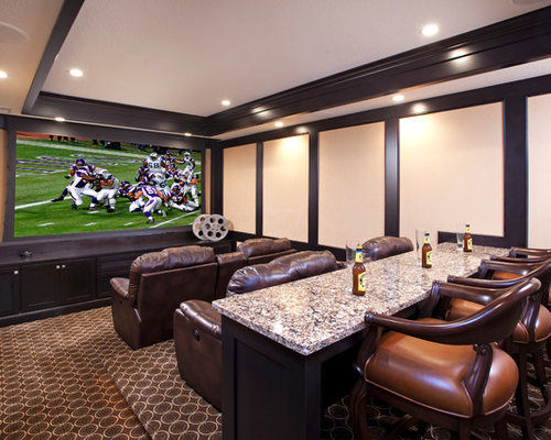 Home Theatre Design Ideas home theater design for home design ideas home theater designs Example Of A Classic Enclosed Home Theater Design In Minneapolis With Carpet And A Projector Screen