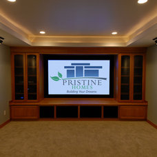 Modern Home Theater by Pristine Homes LLC