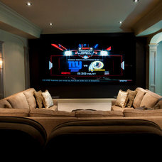 Traditional Home Theater by Hooked Up Installs, Inc