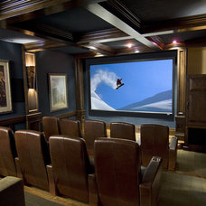 Traditional Home Theater by Denton House Design Studio