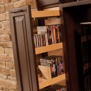Fashionable Entertainment Centers - Media Storage Pull-out for CD's DVD's, Movie