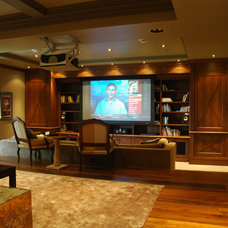 Traditional Home Theater by H2 Systems Inc.