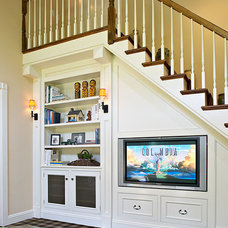 Traditional Home Theater by Kitchens & Baths, Linda Burkhardt