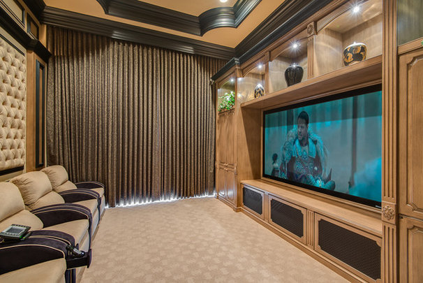 Traditional Home Theater by Michael Laurenzano Photography