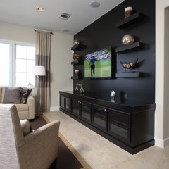 traditional media room by Precision Cabinets & Trim