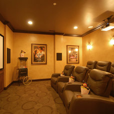 Traditional Home Theater by Style On a Shoestring