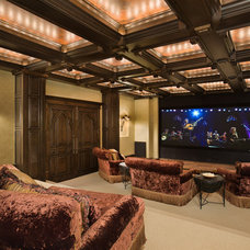 Traditional Home Theater Traditional Media Room
