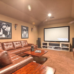 traditional media room by Silvan Homes