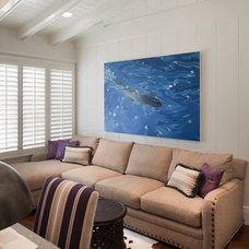 Beach Style Home Theater by Anne Sneed Architectural Interiors