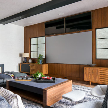 Transitional Home Theater