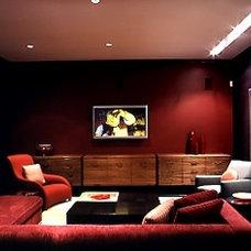 Modern Home Theater by Betty Wasserman
