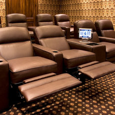 Contemporary Home Theater by Next Electronic Systems, Inc