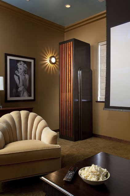 Eclectic Home Theater by Tongue & Groove