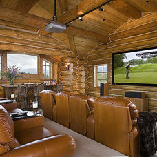Traditional Home Theater by Teton Heritage Builders
