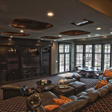 Traditional Home Theater by Wayne Bernskoetter Construction