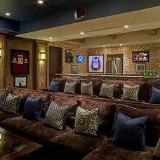 Mediterranean Home Theater by Great  Falls Distinctive Interiors Inc.