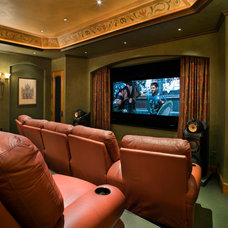 Traditional Home Theater by Linda McCalla Interiors