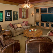 Traditional Home Theater by Visbeen Architects