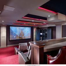 Contemporary Home Theater by Hoishik