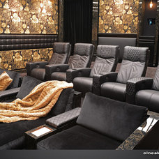 Contemporary Home Theater by CINEAK luxury seating