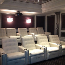 Contemporary Home Theater by Intelligent Sound & Vision Inc.