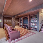 Glass Forest Summit County Rustic Home Theater