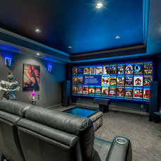 Contemporary Home Theater by K&W Audio