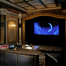 Traditional Home Theater by DesRosiers Architects