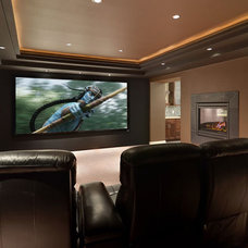 Contemporary Home Theater by Redstone Builders