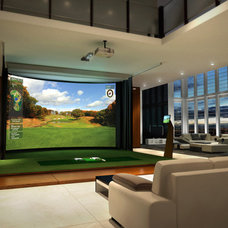 modern media room Use an Amenity As Art