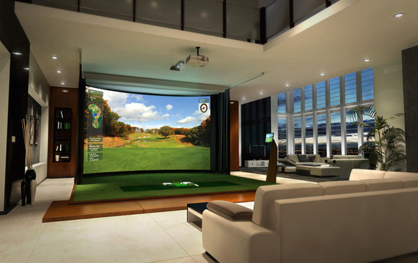 Modern Home Theater Use an Amenity As Art