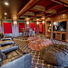 Traditional Home Theater by 3wiredesigns