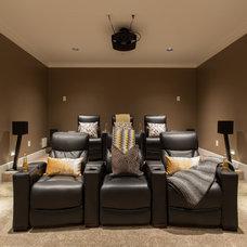 Craftsman Home Theater by Kenorah Design + Build Ltd.