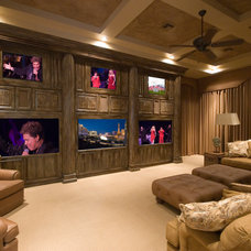 Traditional Home Theater by Richard Luke Architects P.C.