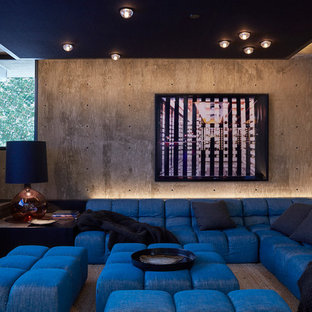 Inspiration For A Contemporary Home Theater Remodel In Los Angeles