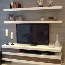 contemporary media room by Lorena Interiors