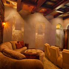Traditional Home Theater by My Villa Austin