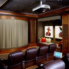 Traditional Home Theater by Kurt Baum & Associates