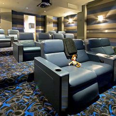 contemporary media room by mark pinkerton  - vi360 photography