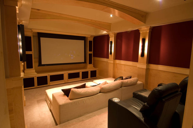 Home Theater by dC Fine Homes & Interiors