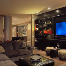 Contemporary Home Theater by Jan Niels