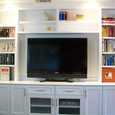Traditional Home Theater by CustomBuilt-ins.com / CFM Company Inc.