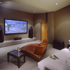 contemporary media room by Dan Phipps Architects